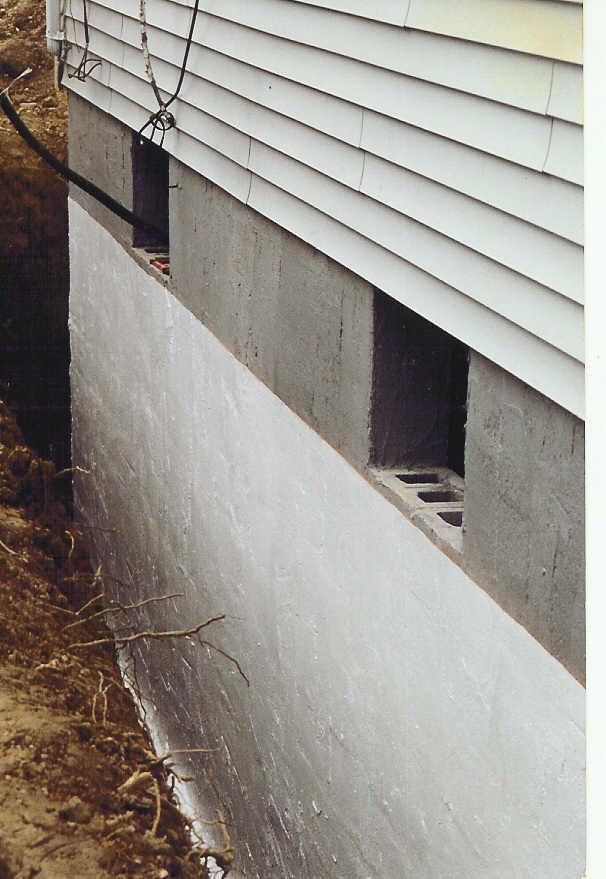 the b dry system wet basement waterproofing process has been